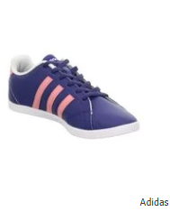 Adidas Leather Lace Up Shoes - Navy Blue