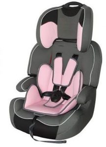كرسي سيارة للاطفال زهري