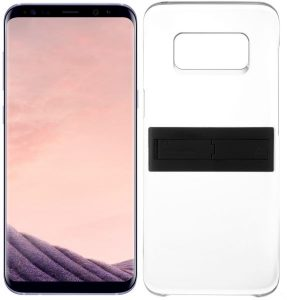 Samsung Galaxy S8+ Dual Sim - 64GB, 4G LTE, Orchid Gray with KickTOK Cover, Black ا