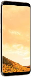 Samsung Galaxy S8 Dual Sim - 64GB, 4G LTE, Maple Gold with KickTOK Cover, Black