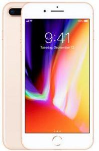 ابل ايفون 8 Plus بدون تطبيق فايس تايم - 64 جيجا, الجيل الرابع ال تي اي, ذهبي