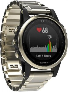 Garmin Fenix 5s Champagne with Metal Band
