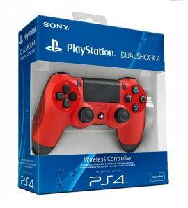 جهاز تحكم بلي ستيشن دوال شوك 4 (أحمر) PS4
