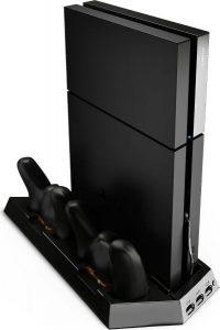 ستاند لبلايستيشن ومبرد PS4 Vertical Stand with Cooling Fan