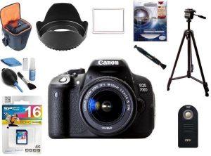✪عرض من كاميرا كانون700D مزودة بحقيبة و غطاء مخصص للشاشة و معدات مخصصة لتنظيف الكاميرا