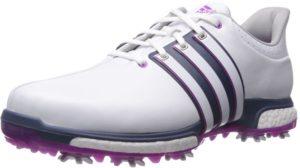 أديداس الرجال حذاء TOUR360 دفعة غولف، الفتوى الأبيض / فلاش الوردي المعدنية الأزرق S، M 8.5 الولايات المتحدة