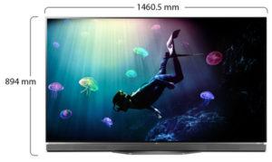 ال جي 65 انش او ال اي دي 4 كيه اتش دي ار تلفزيون ذكي - LG65E6