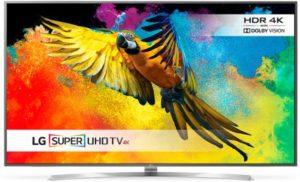 ال جي تلفزيون 75 انش سوبر 4K الترا اتش دي ال اي دي ذكي ثلاثي الابعاد - 75UH855V