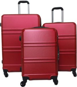 لي فوياجور طقم شنط سفر 3 قطع , اللون احمر