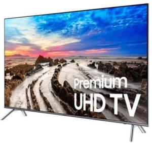 سامسونج 75 انش كيو led تلفزيون ذكي فضي - SAM UA75MU8000