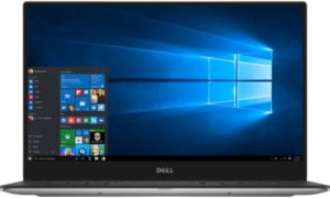 Dell XPS 13 Laptop - Intel Core i7-8550U, 13.3-Inch FHD Touch, 256GB, 8GB, Eng-Arb-KB, Windows 10, Silver