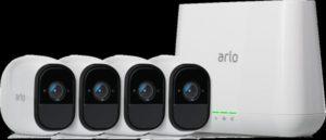 نيتجير أرلو برو 4 كاميرا حزمة VMS4430-100EUS ويريفري هد كاميرات نظام الأمن مع 4 كاميرات هد ومحطة قاعدة