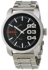 ساعة ديزل دابل داون 46 سوداء للرجال بسوار من الستانلس ستيل - DZ1370