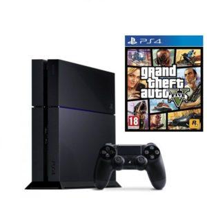 Sony PlayStation 4 Standard Edition 500GB, Black + Grand Theft Auto V