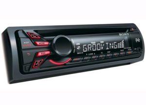 جهاز سوني، مشغل صوت سي دي للسيارة، لون اسود CDX-GT320MP