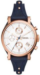 ساعة فوسيل للنساء ES3838 اورجينال بوي فريند كرونوغراف جلد