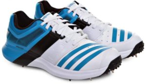 حذاء اديداس سبايك اديباور فيكتور حذاء الكريكيت للرجال - 9 UK, ابيض و ازرق