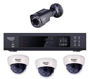 CCTV كيت IP قبة ورصاصة 4CH NVR صنع في كوريا Mezory