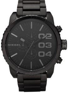 Diesel Double Down Men's Black Dial Stainless Steel Band Chronograph Watch - DZ4207