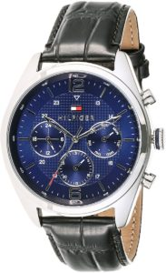 Tommy Hilfiger Men's Blue Dial Stainless Steel Band Watch - 1791182
