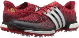اديداس حذاء رياضي للجولف من اديداس، مقاس 3، اسود / فتوى ابيض / باور ريد، 11 M أوس