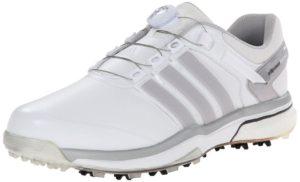 اديداس حذاء رياضة بوا بوست من اديداس، ابيض، فضي / فضي، 9 M الولايات المتحدة