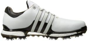 اديداس جولف للرجال TOUR360 2.0 أحذية الجولف، فتر أبيض / كور أسود / كور أسود، 13 م الولايات المتحدة