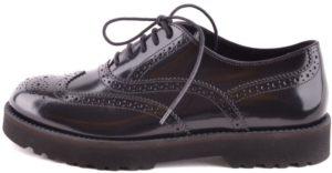 أحذية الدانتيل جلد أسود Mcbi148279o هوجان نسائي