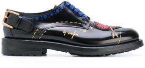 حذاء نسائي من الجلد دولتشي آند غابانا من الجلد الأسود Cn0037ai522hnf57