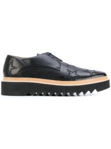 ستيلا مكارتني للرجال 484245W1dv01000 الأسود البوليستر الدانتيل متابعة الأحذية