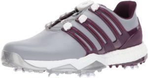 أديداس بويرباند بوا بوست أحذية للجولف، منتصف رمادي / أحمر ليلة الغموض روبي النسيج، 15 M الولايات المتحدة