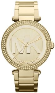 ساعة مايكل كورس MK5784 ذهبي باركر كرونوغراف جليتز للنساء