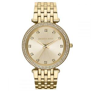 ساعة مايكل كورس دارسي ذهبية للنساء بسوار من الستانلس ستيل - MK3216