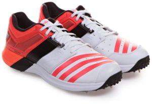 حذاء اديداس سبايك اديباور فيكتور حذاء الكريكيت للرجال - 8 UK, ابيض و برتقالي