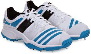 حذاء اديداس F32230 هوزات اف سي سبايك حذاء الكريكيت للرجال - 9 UK, ابيض و ازرق