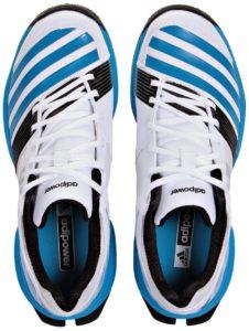 حذاء اديداس F32226 SL22 FS II سبايك حذاء الكريكيت للرجال - 8 UK, ابيض و ازرق