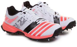 حذاء اديداس سبايك SL22 FS II حذاء الكريكيت للرجال - 9 UK, ابيض و برتقالي
