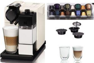جهاز صنع القهوة والإسبريسو والكابتشينو ماركة نسبريسو موديلEN550