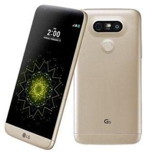 ال جي جي 5 ثنائي شرائح الاتصال - 32 جيجا، 4 جيجا، الجيل الرابع ال تي اي، واي فاي، اللون ذهبي