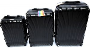طقم حقائب سفر من ديسكفري 3 قطع مع قياس الوزن وبلوتوث للتعقب -اللون اسود - RA8016
