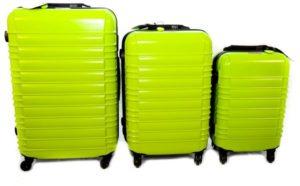 شنط سفر من ديسكفري 3 قطع مع قياس الوزن وبلوتوث للتعقب -اللون أخضر - RA8009