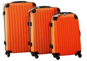 شنط سفر من ديسكفري 3 قطع مع قياس الوزن وبلوتوث للتعقب -اللون برتقالي - RA808