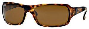راي بان نظارات شمسية نمط مستطيل للرجال - RB4075-642/57-61