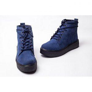 Jolly أحذية للنساء قصيرة بشكل أنيق - Blue
