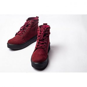 Jolly أحذية للنساء قصيرة بشكل أنيق - Red