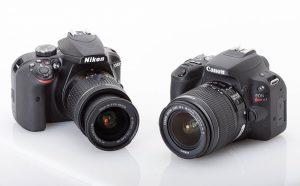 مقارنة بين كاميرا كانون ونيكون