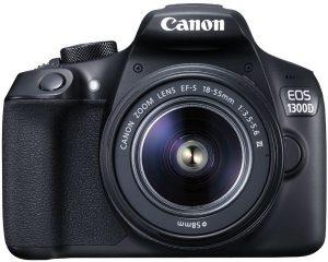 كاميرا كانون اي او اس بعدسات 1300D - دقة وضوح 18 ميجا بكسل، كاميرا دي اس ال ار، 18 - 55 ملم، 3.5-5.6 III، اسود