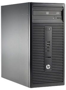كمبيوتر مكتبي اتش بي 280G1 بمعالج i5 الجيل الرابع بسعة 4 جيجابايت 500 جيجابايت دي في دي قابل لاعادة الكتابة دوس