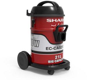 مكنسة كهربائية 21 لتر , 2100 واط من شارب , احمر , EC-CA2121-Z
