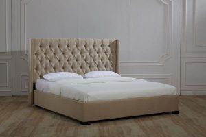 جاستين بيدز مايفاير فاكتشر قماش سرير بتصميم Ottoman مع مرتبة طبية ، 180x200 سم - بيج